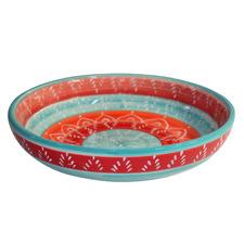 Multi-Coloured Round Ceramic Pasta Bowl