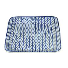 Blue Square Ceramic Side Plate