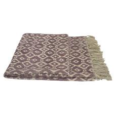 Aubergine Kilim Cotton Rug