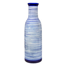 Blue Striped Ceramic Vase