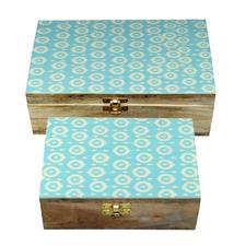 2 Piece Zhian Bone Storage Box Set