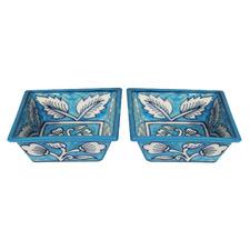Kailan Square Ceramic Tapas (Set of 2)