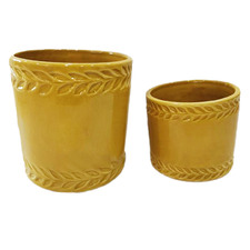 2 Piece Darcie Ceramic Planter Pots Set