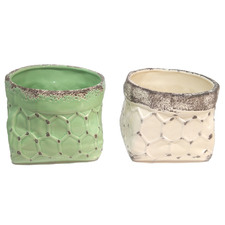 2 Piece Farrell Ceramic Planter Pots Set