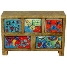 Yash Ceramic & Wood 5 Drawer Box