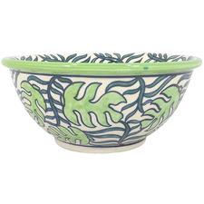 Palm Ceramic Salad Bowl