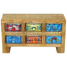 Burt Ceramic & Wood 6 Drawer Box