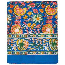 Multi-Coloured Floral Cotton Tablecloth