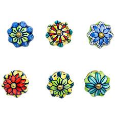 6 Piece Fluted Ceramic Door Knob Set