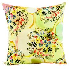 Yellow Flora Cotton Cushion