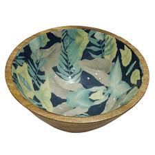 Green & Natural Palm Decorative Bowl