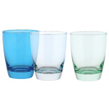 6 Piece Tiara Blues 365ml DOF Tumbler Set