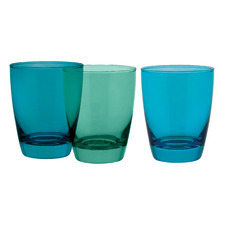 6 Piece Tiara Greens 365ml DOF Tumbler Set