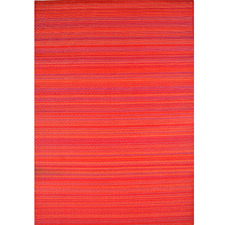Red Chatai Rongoli Reversible Indoor Outdoor Rug