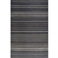 Black Chatai Rongoli Reversible Indoor Outdoor Rug