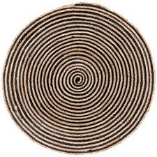 Natural & Black Salvador Hand Made Round Rug