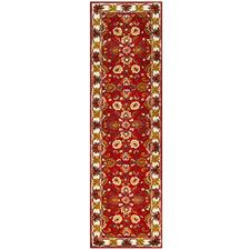 Red & Cream Kashan Wool-Blend Runner