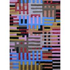 Grid Decotex Hand Made Wool-Blend Rug