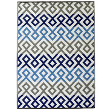 Blue & Grey Chatai Classic Outdoor Rug