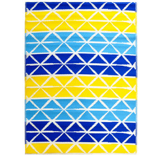 Aqua & Yellow Chatai Classic Outdoor Rug