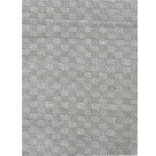 Black & White Diamond Wool & Jute Rug
