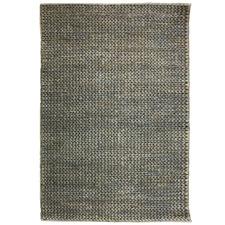 Silver & Grey Sharpati Hand Woven Jute & Cotton Rug
