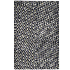 Grey Jelly Bean Felted Wool-Blend Rug