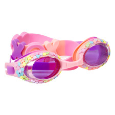 Kids' Pink Hugs & Kisses Classic Candy Heart Swim Goggles