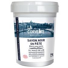 1kg Marseille Black Linseed Soap Paste Floor Cleaner