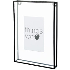 "Black Melody 10 x 8"" Metal Photo Frame"