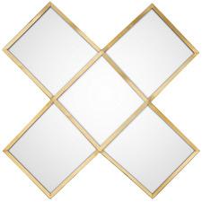 Gold Cross Metal Mirror
