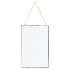 Gold Iron Hanging Photo Frame with Lock