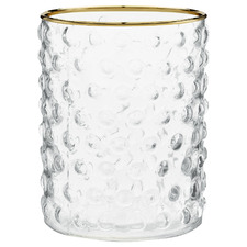 Clear Tactile Glass Decorative Vase