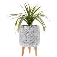 40cm Modern Terrazzo Footed Planter Pot