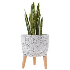 33cm Modern Terrazzo Footed Planter Pot