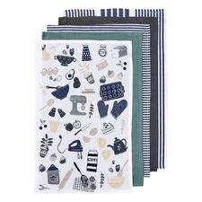 5 Piece Bake It Cotton Kitchen Towel Set