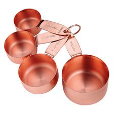 4 Piece Copper Lawson Measuring Cup Set