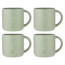 Eggshell Reactive Porcelain Mugs (Set of 4)