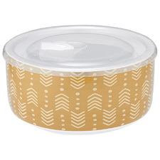 Intrinsic Zest Tribal Prep Microwave Stoneware Food Bowl