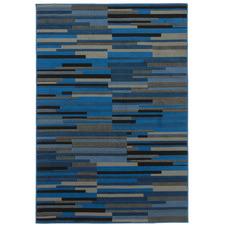 Blue Wood Brussels Power-Loomed Rug