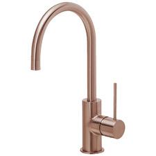 Rose Gold Titan Stainless Steel Gooseneck Sink Mixer