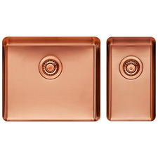 2 Piece Small & Large Rose Gold Titan Kitchen Sink Bowl