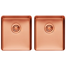 W41 x D46cm Rose Gold Titan Stainless Steel Kitchen Sink Bowls (Set of 2)