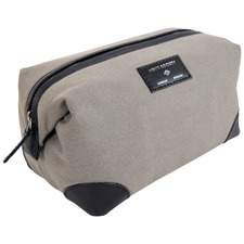 Grey & Black Men's Society Canvas Wash Bag