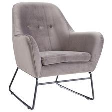Eugen Velvet Sleigh Armchair