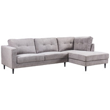 Granite Keala 3 Seater Upholstered Sofa with Right Chaise