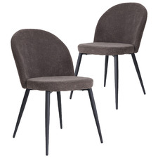 Graphite Kazmer Dining Chairs (Set of 2)