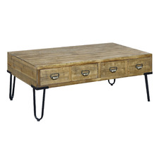 Nixon Pine Wood Coffee Table