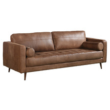 Marwan 3 Seater Leather Sofa