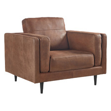 Gail Leather Accent Chair